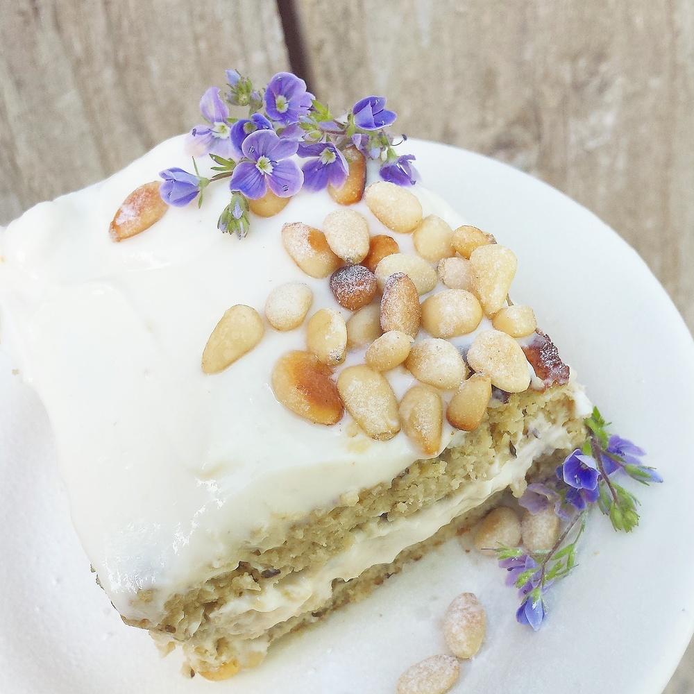 Grain Free Honeyed Aubergine Cake