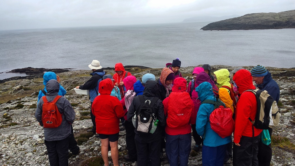 Our botany group braves the elements to get an in-depth look at the island's diverse plant life.