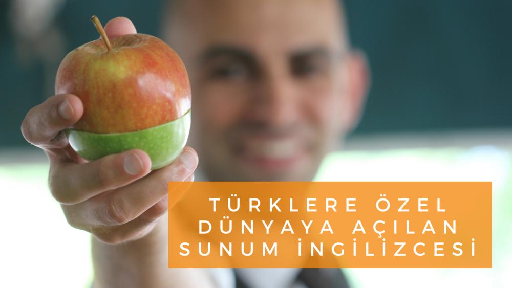 Türklere özel dünyaya açılan sunum İngilizcesi
