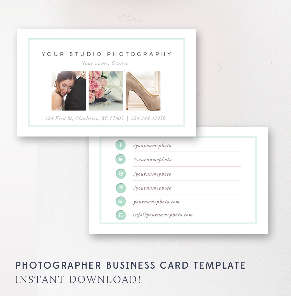 Business card template photographer business cards by for Photographer business card template