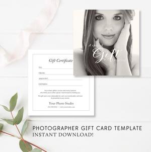 boudoir gift card template