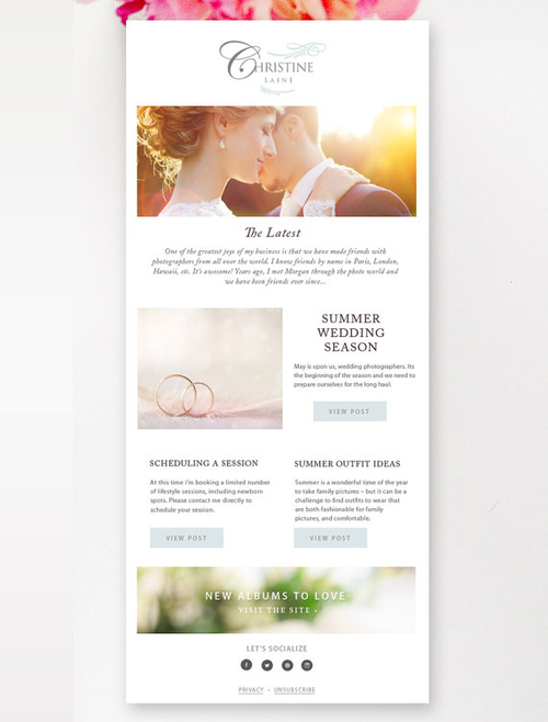 Newsletter Template For Email By Stephanie Design - Wedding newsletter template