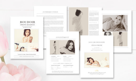 boudoir photographer marketing set