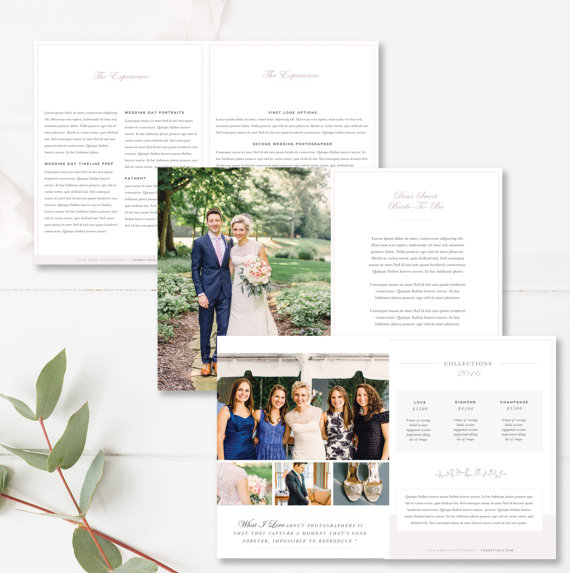 wedding photographer magazine template