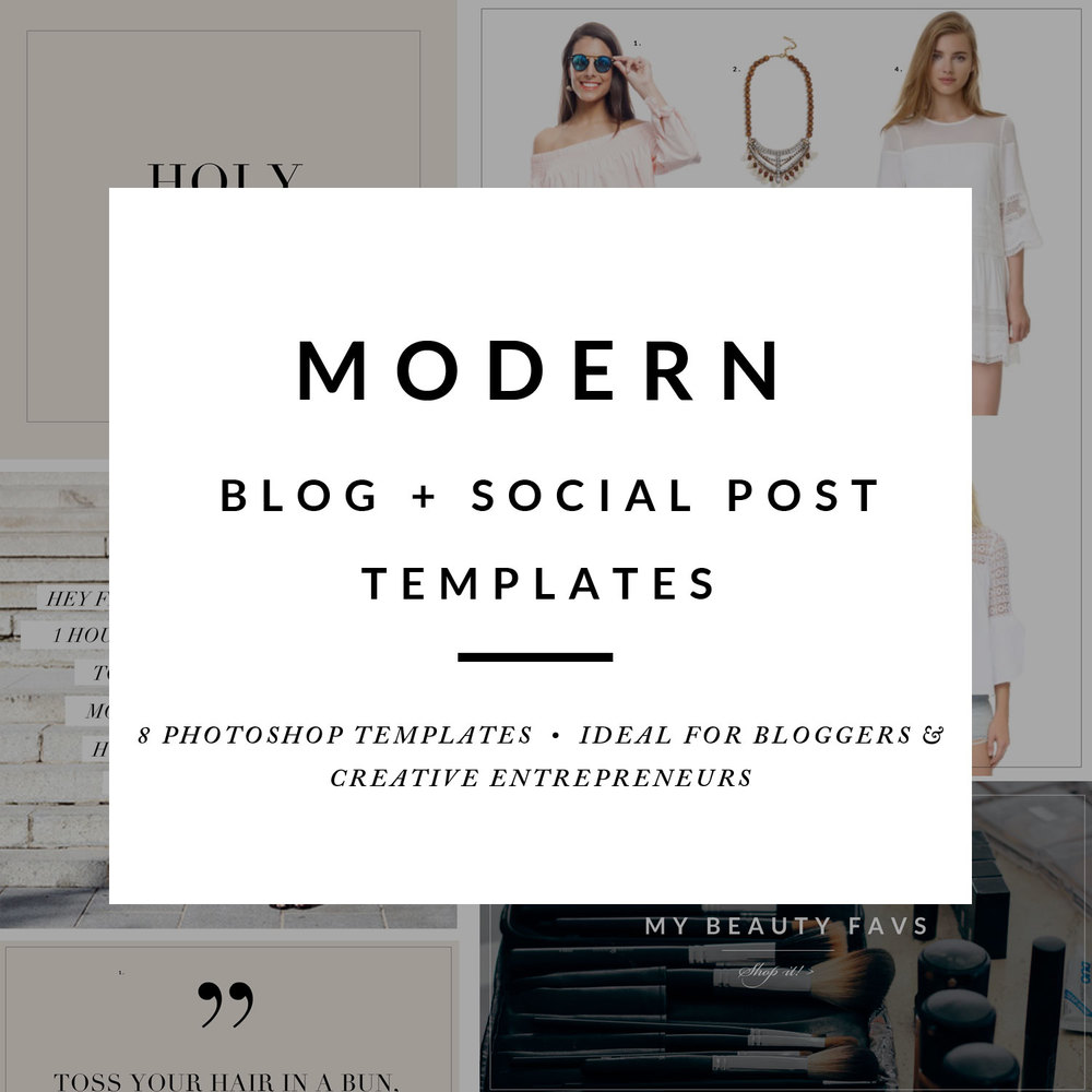 modern blog and social post templates - by stephanie design