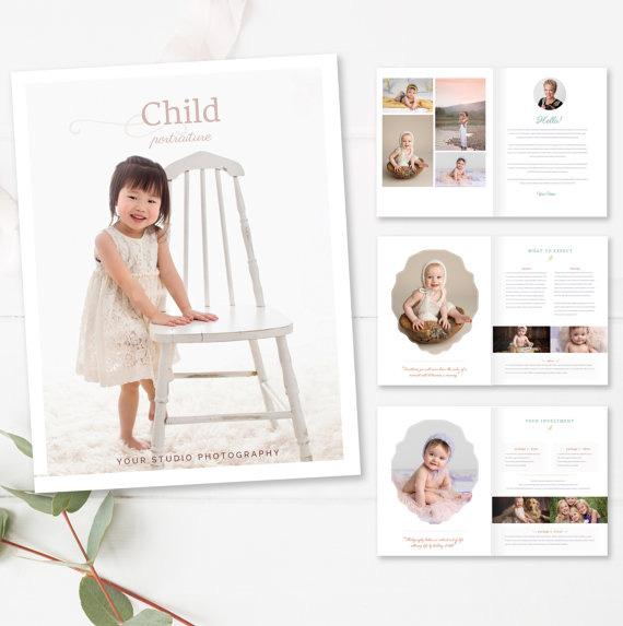 Children\'s Photography Magazine Template - Newborn Magazine Template ...