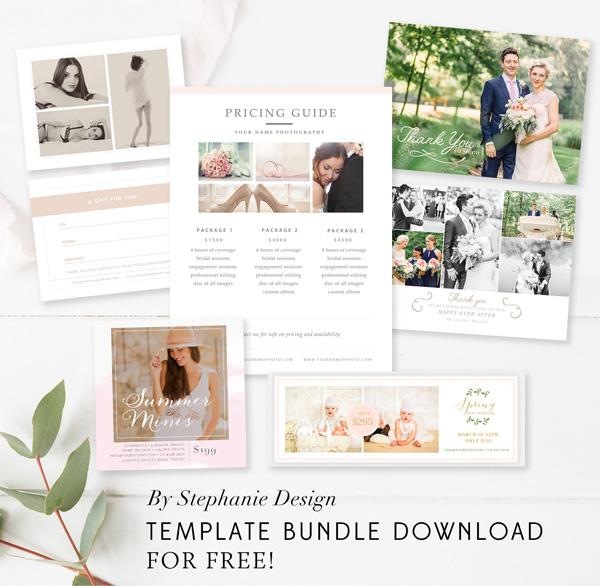free photographer template bundle - By Stephanie Design