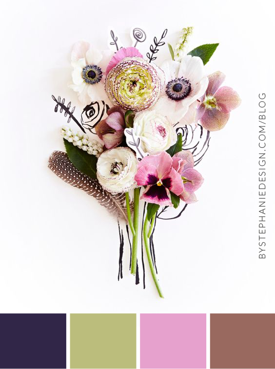 how to chose a color palette for your small business - by stephanie design
