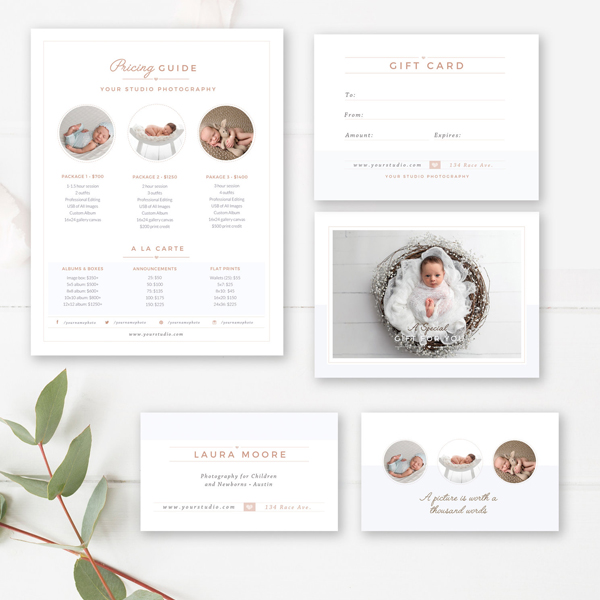 newborn photographer marketing set - by stephanie design