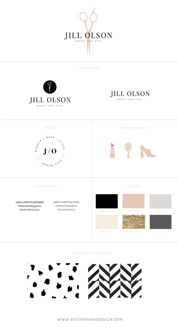 custom brand design for makeup artist - custom brand design - by stephanie design