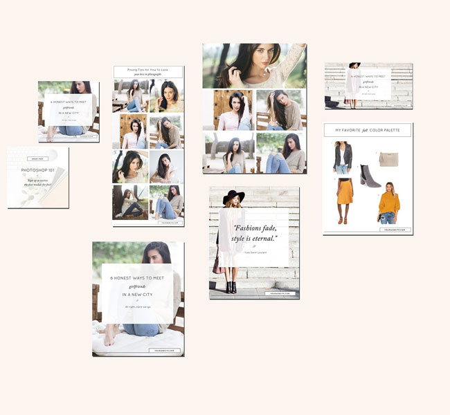 Entrepreneur Blog Post Social Media Templates By Stephanie Design