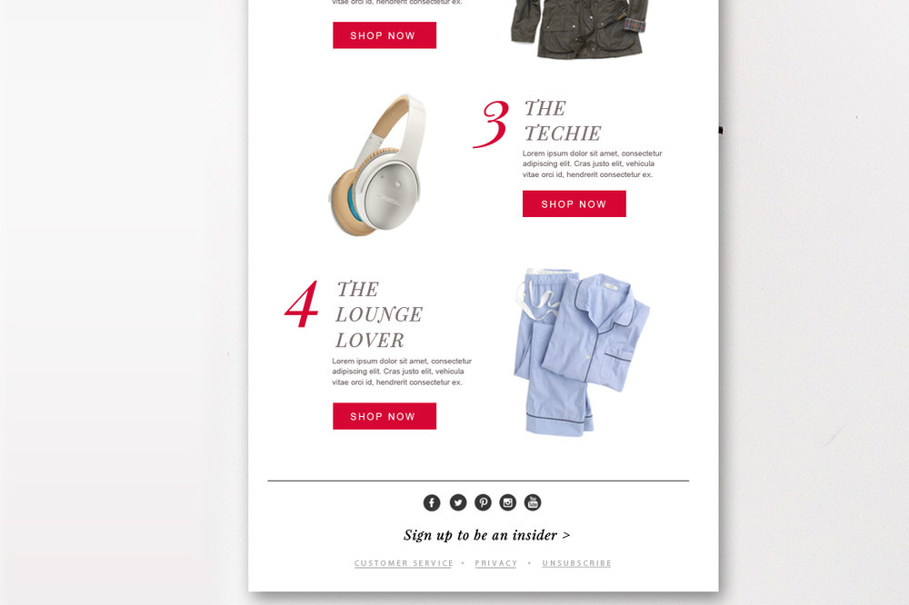 ecommerce email template psd by stephanie design