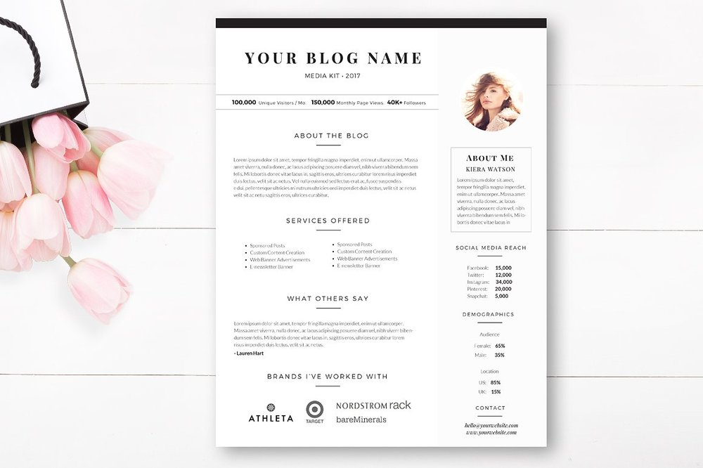 blogger media kit template | by stephanie design