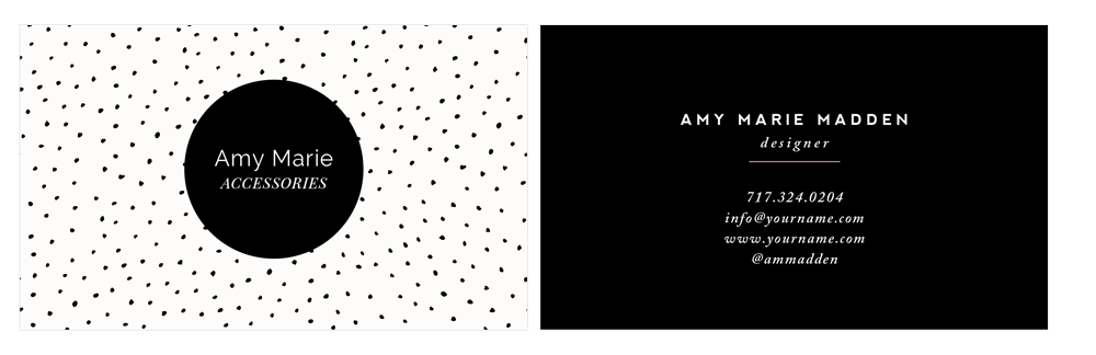 business card template - polka dot - by stephanie design
