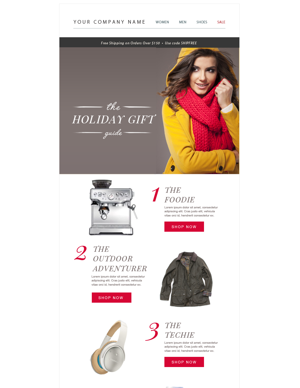 e-commerce email template design psd - by stephanie design