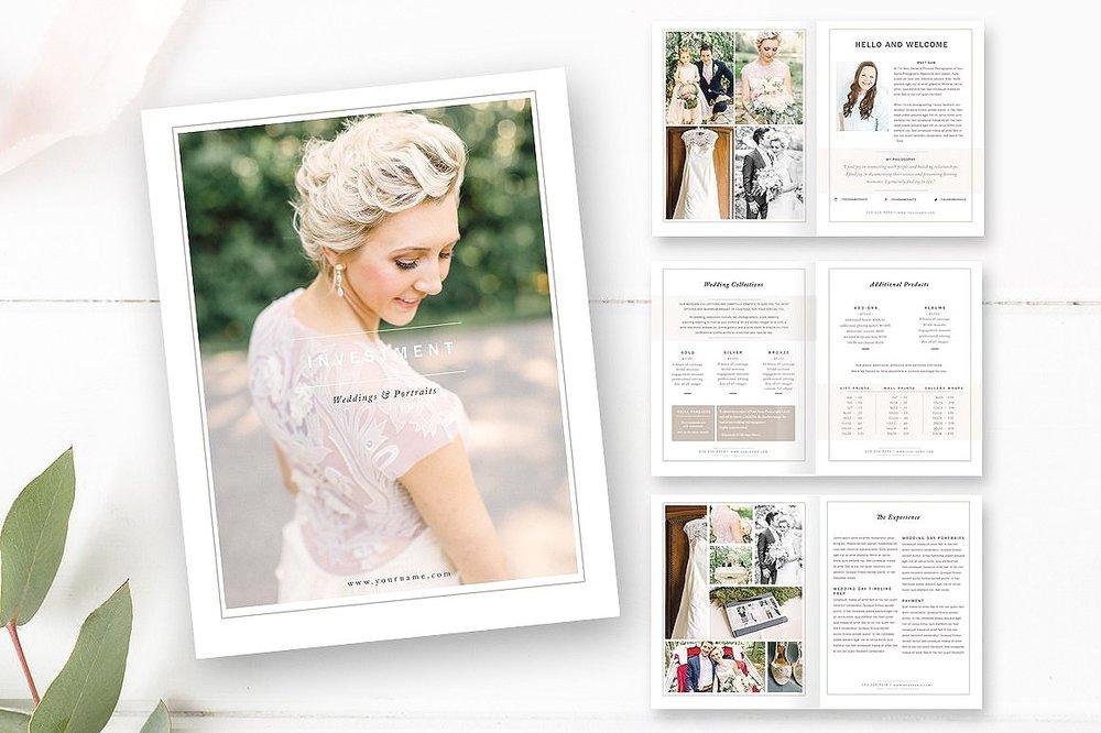 Wedding Photographer Magazine Template - Wedding Price List - 22 ...