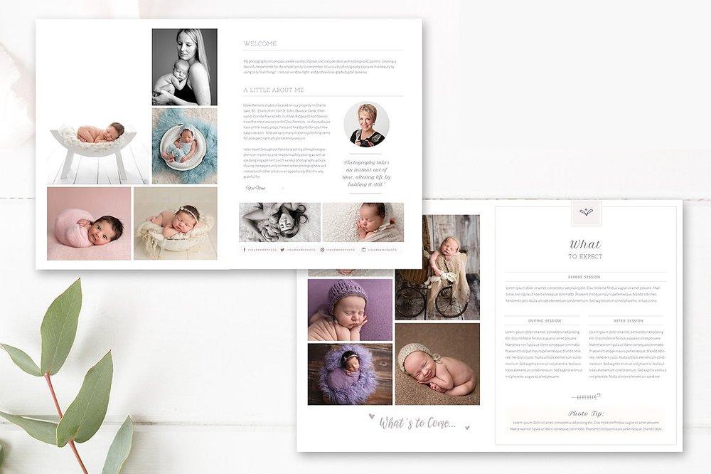 Newborn Photography Magazine Template - 22 Pages - Newborn Magazine ...