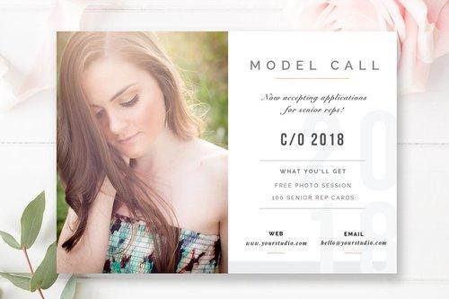 Pography Marketing Templates   Senior Model Call Template Digital Photography Marketing Board
