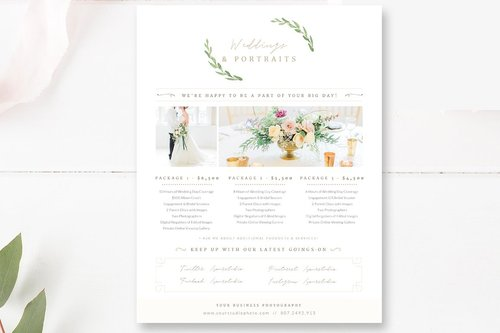 price list template for wedding photographers photographer