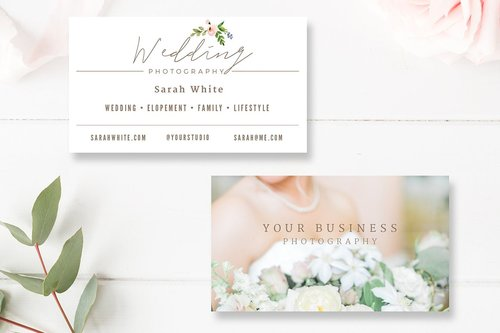 Shop ii by stephanie design wedding photographer business card template fbccfo Choice Image