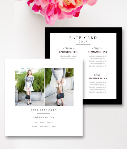 Rate Card Template Rate Sheet Template  Free Word Excel Pdf