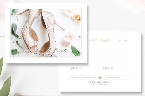 Wedding Photographer Gift Certificate Template Gift Card Psd By
