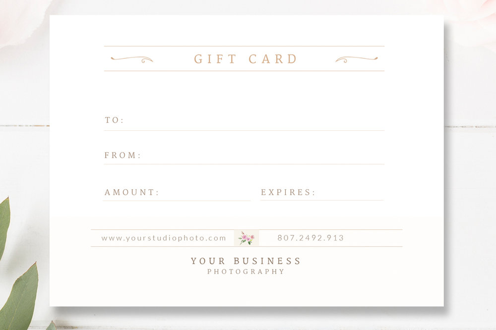wedding photographer gift certificate template gift card psd