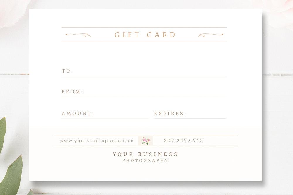 wedding photographer gift certificate template gift card psd