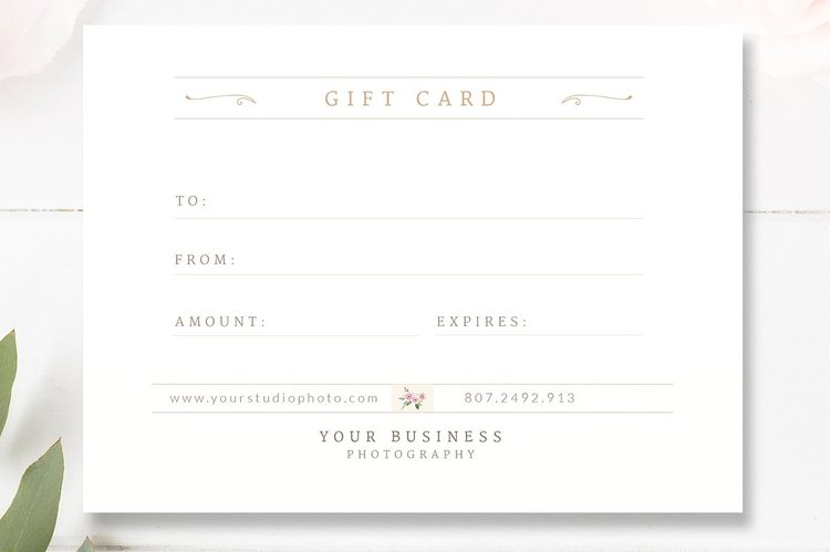 Shop ii by stephanie design wedding photographer gift card template gift certificate psd yelopaper Gallery