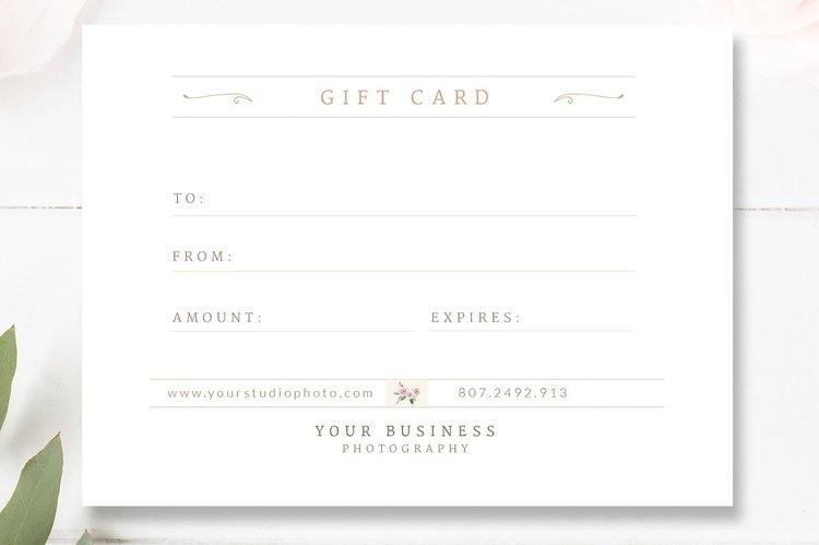 wedding photographer gift card template gift certificate psd