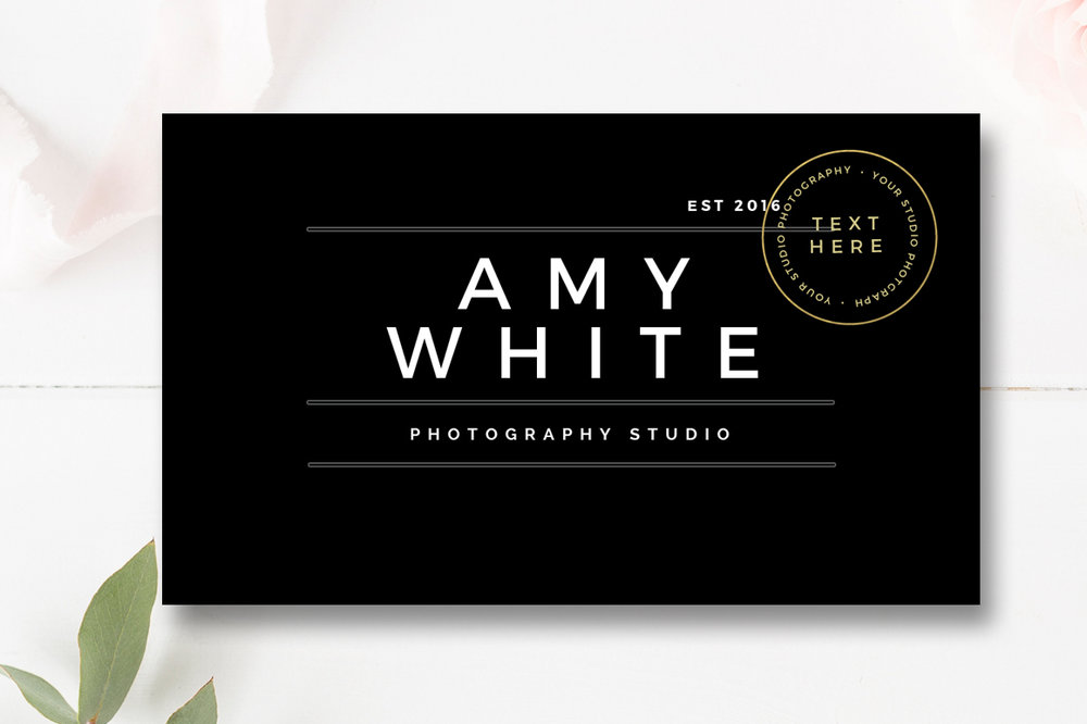 Senior photography business card by stephanie design senior photography business card reheart Image collections