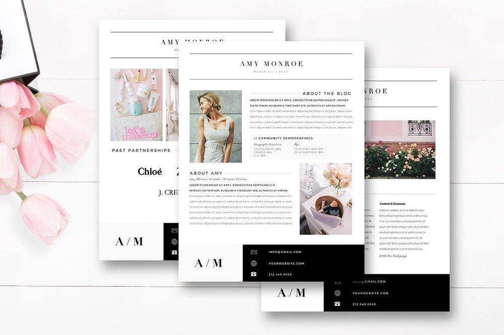 Media Kit Template 4 Page, Blogger Media Kit — By Stephanie Design