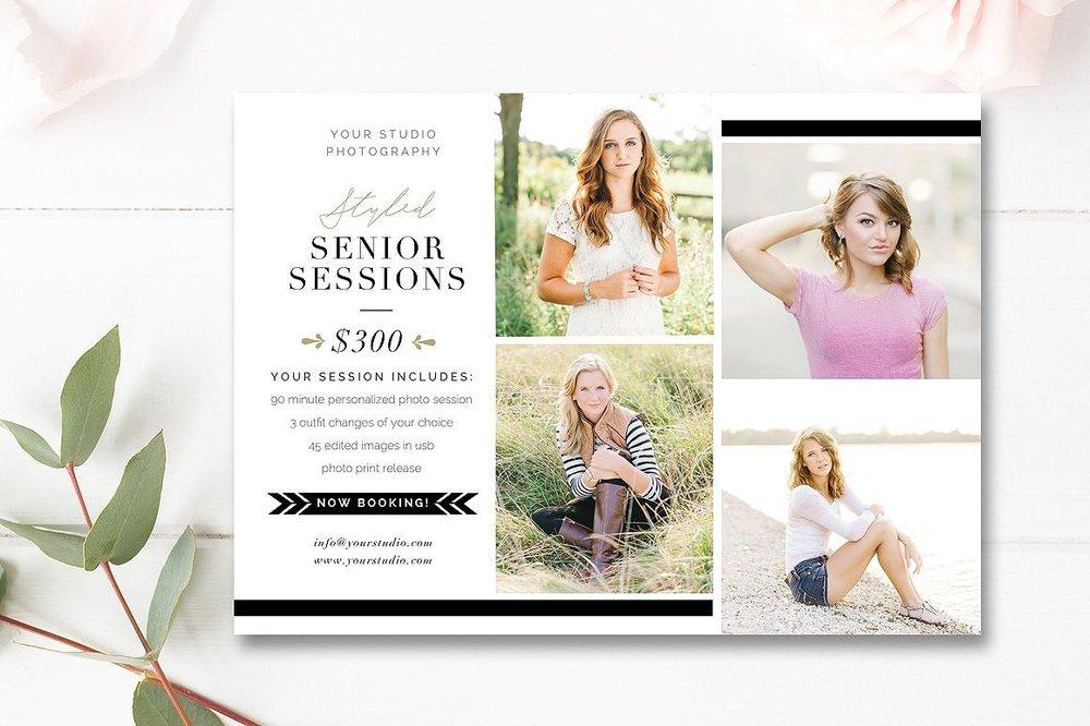 senior photographer marketing template psd - by stephanie design