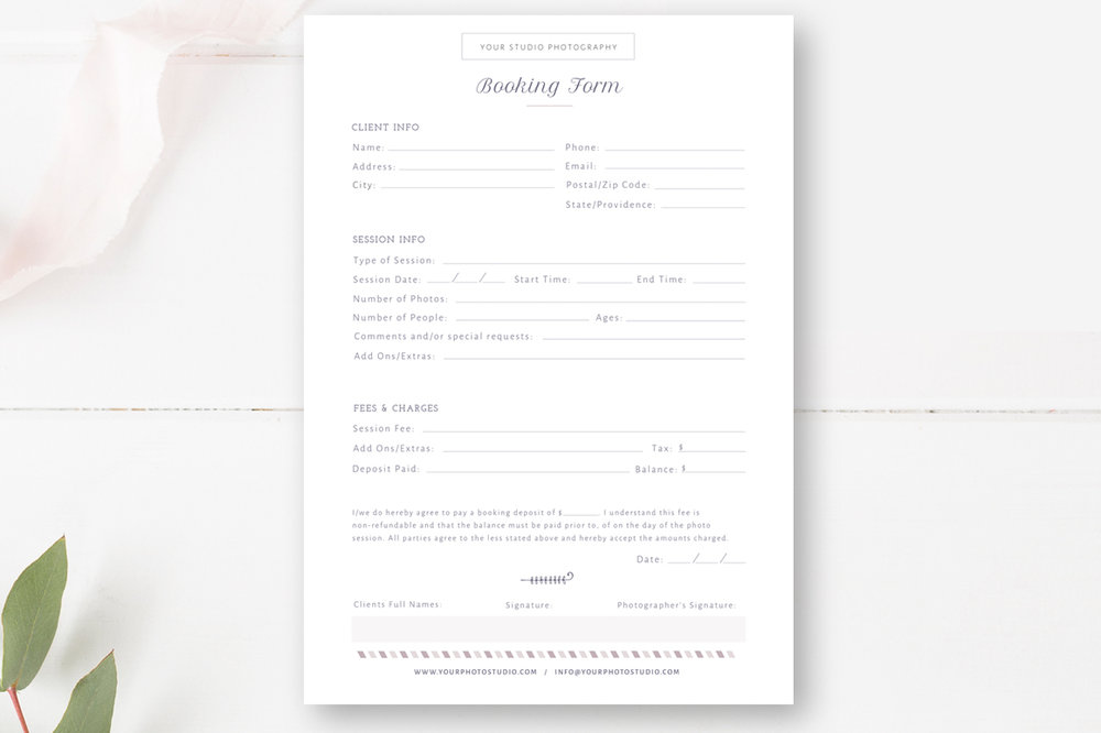 Client booking form for photographer by stephanie design client booking form for photographer thecheapjerseys Choice Image