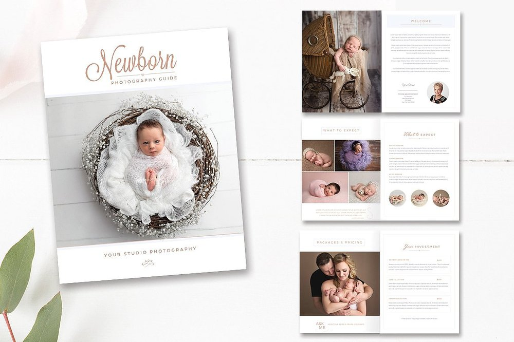newborn photographer magazine template
