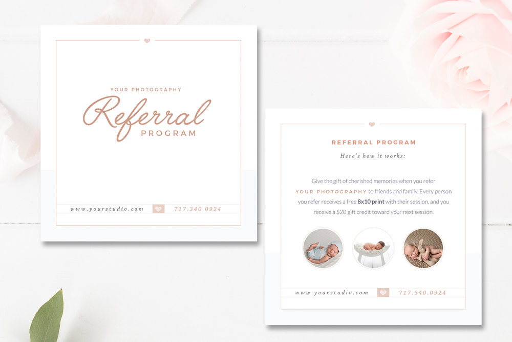 photography referral card templates referral program