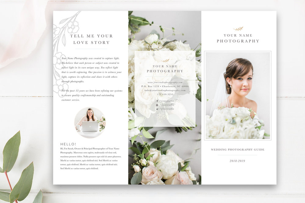 Photography Trifold Brochure Template For Photoshop By Stephanie