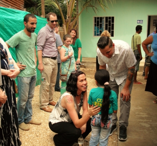 Jeremy and Amy meet their Compassion sponsor child.