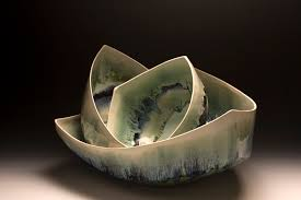 Triangle bowls by Michelle Mendlowitz