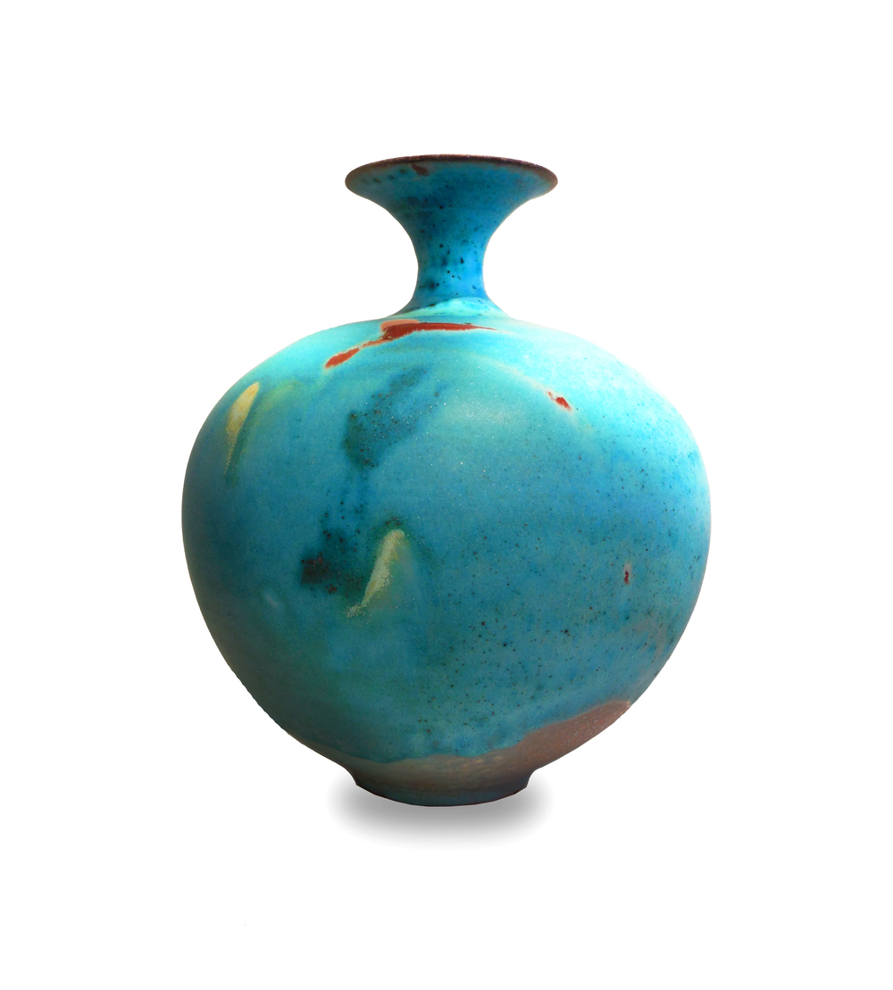 SOLD II Turquoise vase by Kayo O'Young