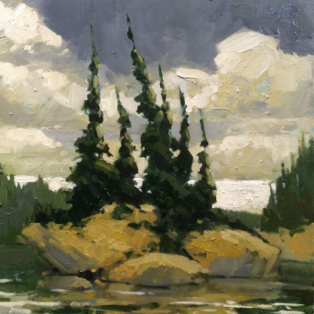 SOLD ||  Island #2, French River by Jamie Jardine