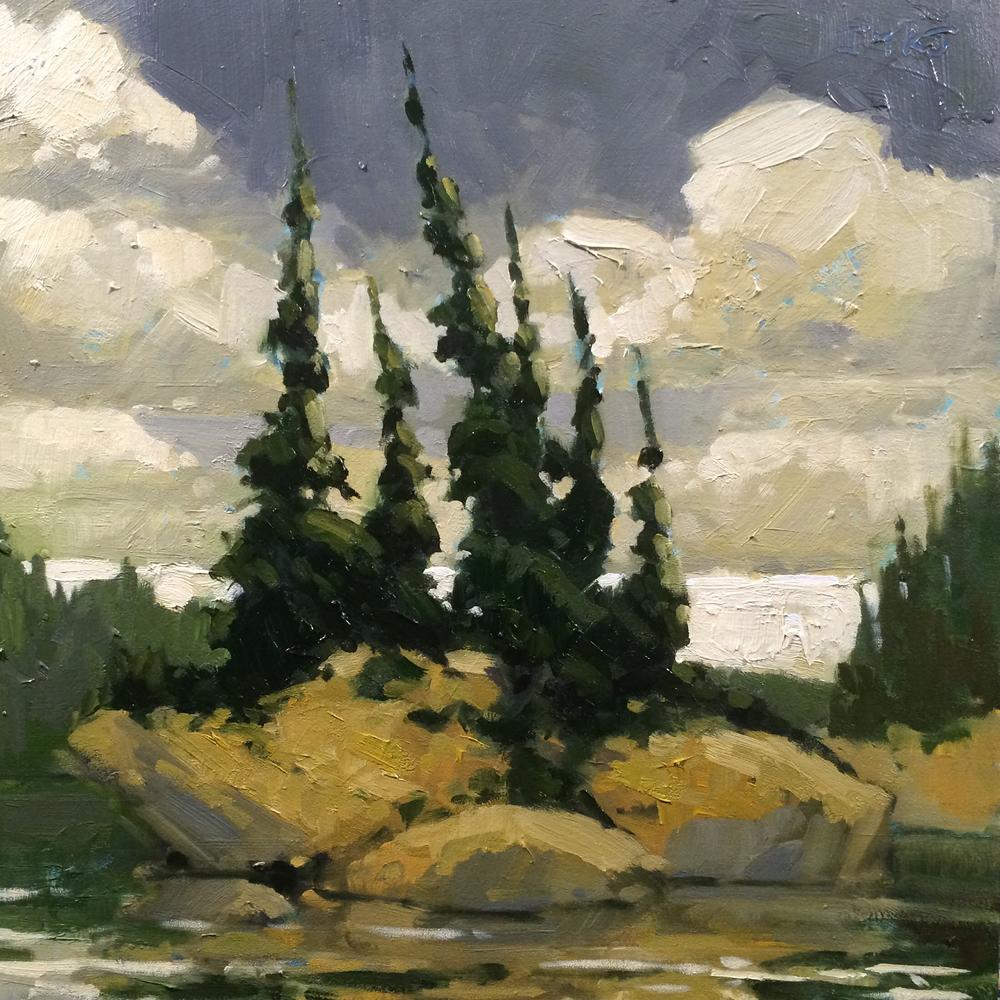 SOLD ||  Island #2, French River by Jamie Jardine