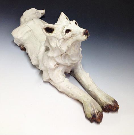 SOLD II White Arctic fox - recumbent