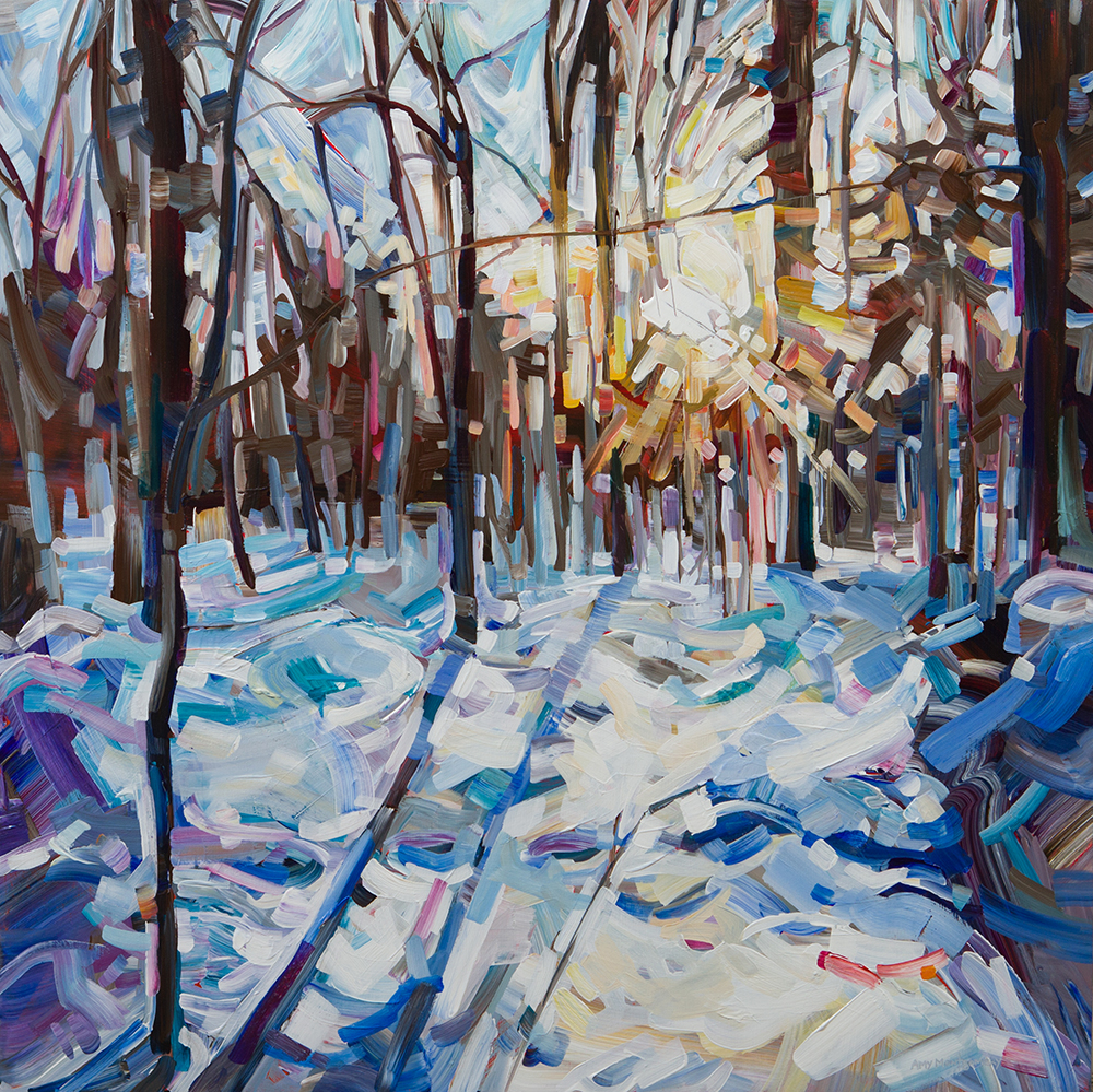 SOLD II Winter on Warbler by Amy Montgomery
