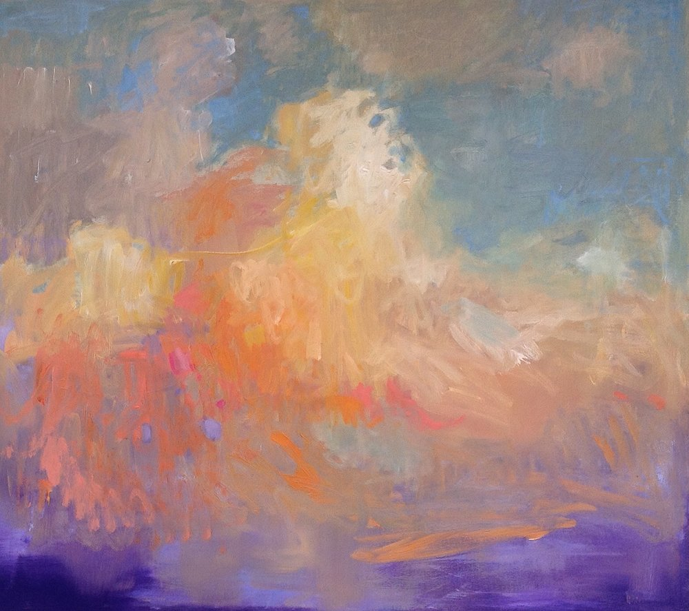 SOLD II Cloud with Yellow Line by Carol Finkbeiner Thomas
