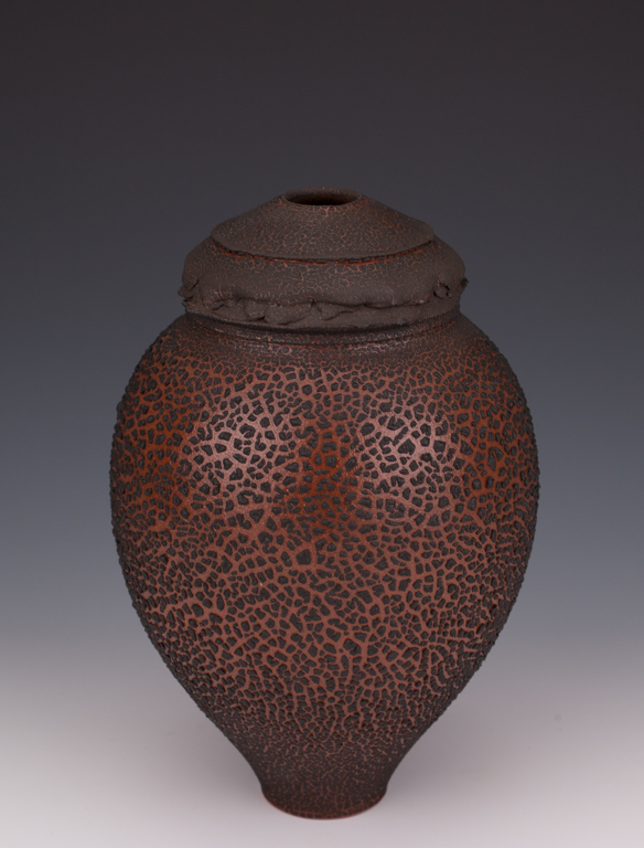 646-004 Collared Vessel by Mary Fox, 25cm T x 16.jpg