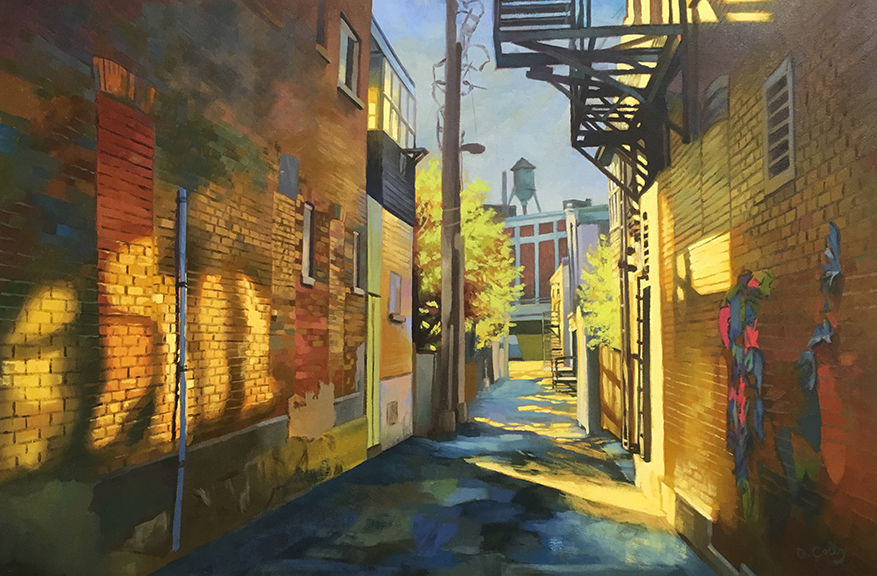 """ALLEYWAY BY DANIEL COLBY  20"""" x 30"""""""