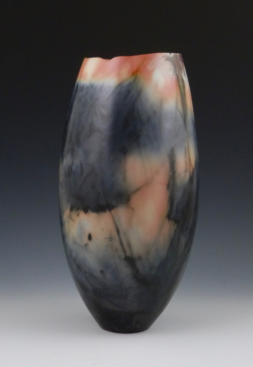 Saggar Fired Vessel by Judy Blake