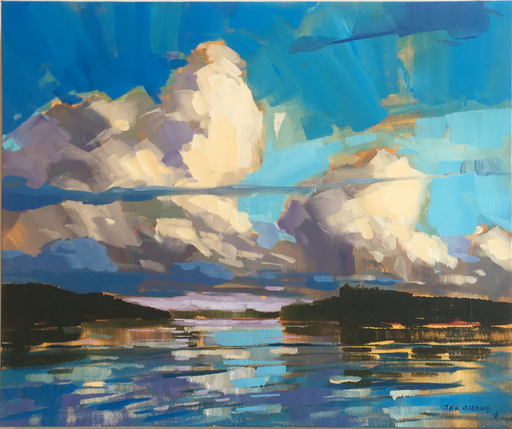 Clouds over Lake Cecebe #1 by Jamie Jardine