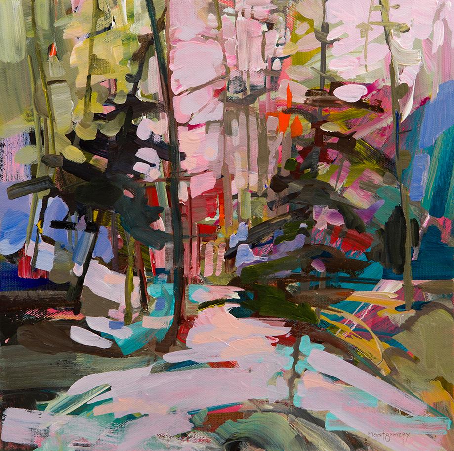 Pink Landscape Study by Amy Montgomery